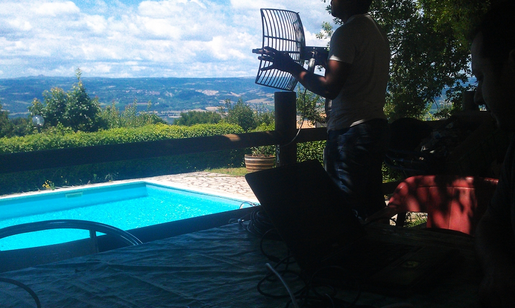 Sopralluogo per verifica segnale 5Ghz per l'installazione dell'antenna internet - Terni Viterbo - Umbria Lazio Toscana