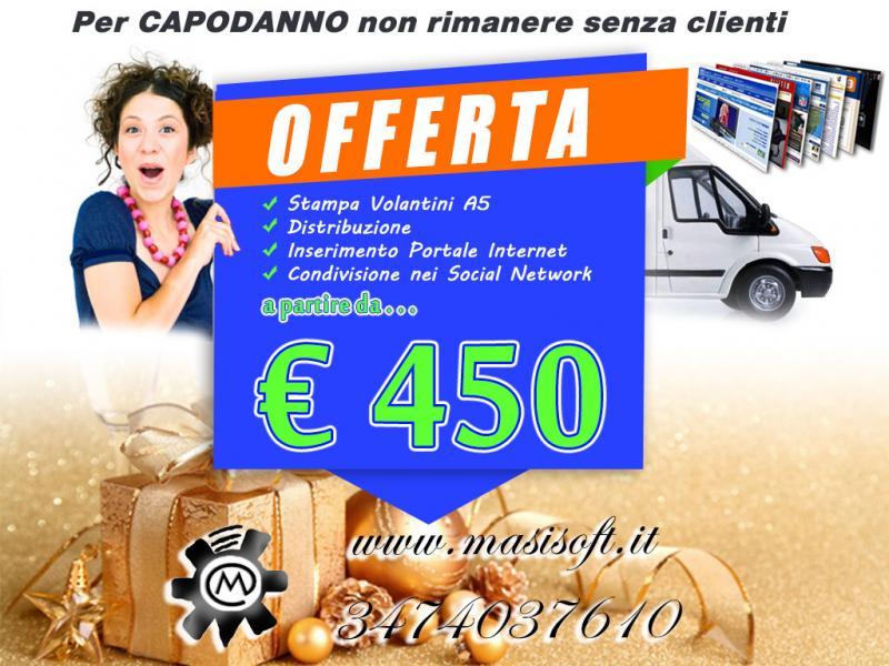 Offerta per Capodanno: Stampa Volantini, distribuzione e comunicazione