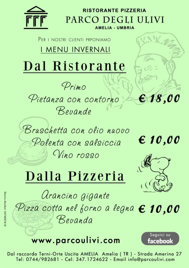 volantini Ristorante pizzeria parco degli ulivi amelia terni