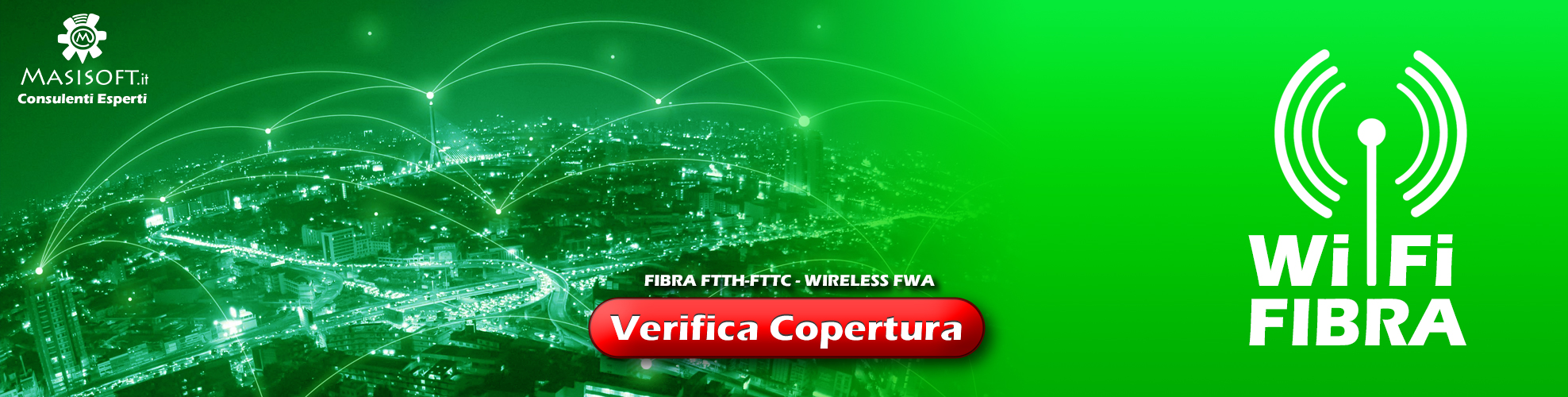 Verifica Copertura - Fibra FTTH - FTTC - Antenna Wireless -