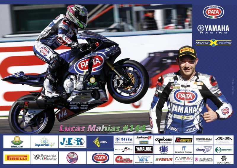 Realizzazione poster fotografico - Lucas Mahias - Pata Yamaha Official Stock Team - 2016