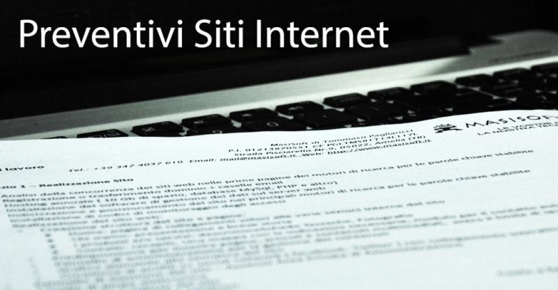 Preventivi siti internet in Italia - Roma - Perugia - Terni - Viterbo - Ancona - Umbria - Lazio - Marche