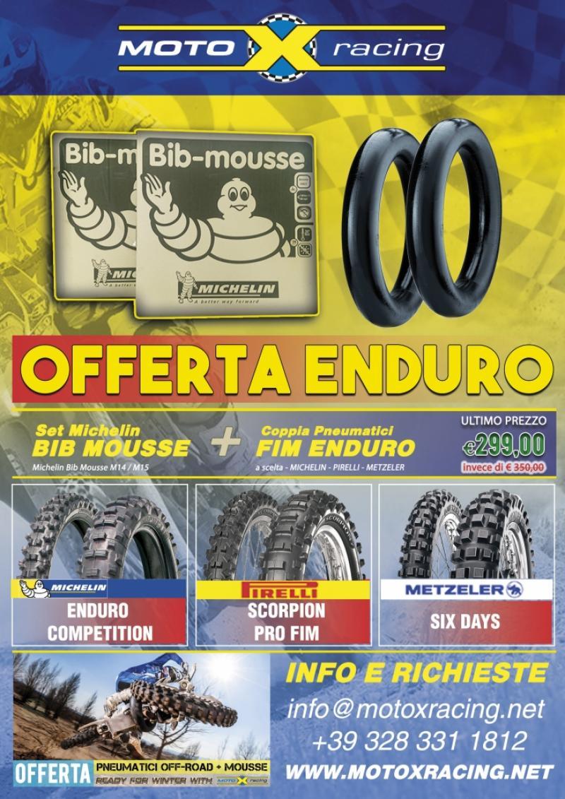 Volantino promozionale - Distribuzione pneumatici off-road - Motoxacing.net