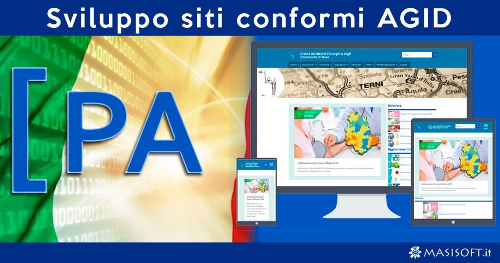 Sviluppo siti web conformi alle norme AGID per la Pubblica Amministrazione, Comuni ed Enti